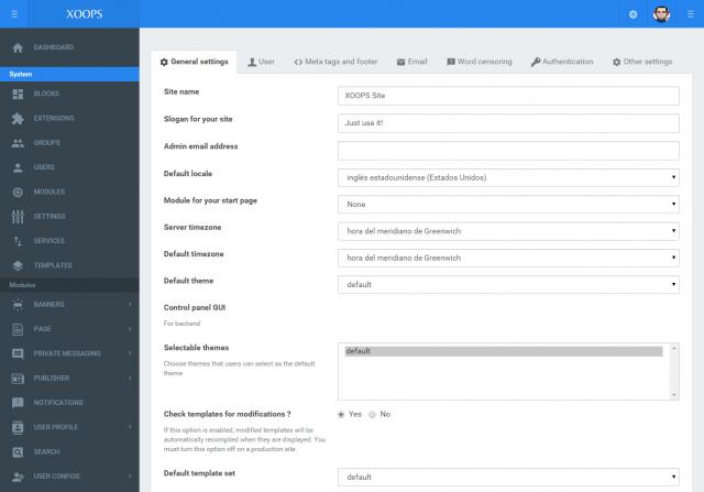Great progress on XOOPS 2.6.0 GUI