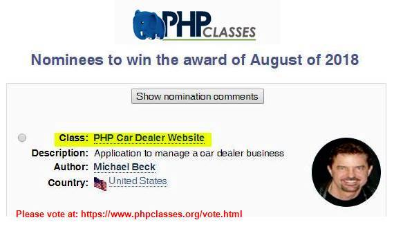PHPClasses Award