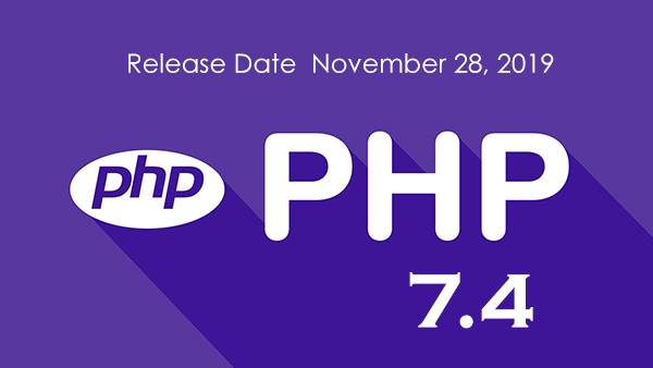 PHP 7.4 Released