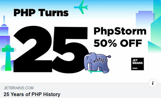 PHP Turns 25: Short History of PHP and 50% PhpStorm Discount